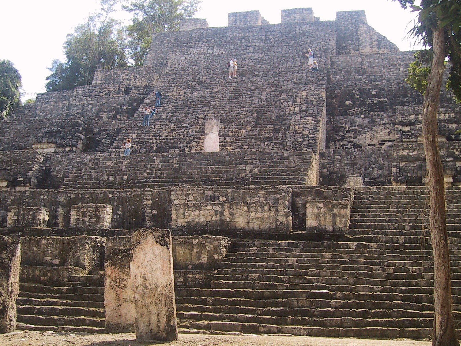 """At 150 feet high, """"Structure 2,"""" is the largest building at Calakmul, in the Petén Basin of the Yucatan peninsula. The city was home to an estimated 50,000 people prior to being abandoned early in the 10th century. - PHOTO BY BARRY EVANS"""