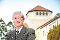 PHOTO COURTESY OF HUMBOLDT STATE UNIVERSITY. - At 70, Rollin Richmond is starting the next chapter of his life, leaving Humboldt State University markedly changed from his 12-year tenure as its president.