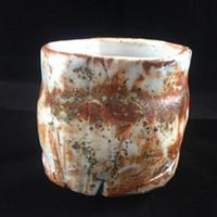"""Axelrod's """"Canyon Wall"""" tea bowl."""