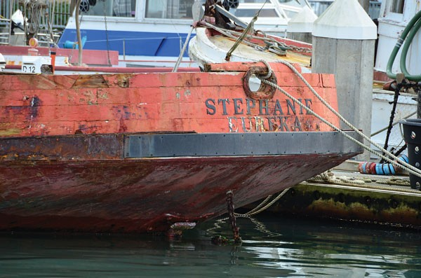 The Stephanie, a former trawler built in 1917 in San Francisco by Genoa Boat Works, is the second oldest boat on the bay (the Madaket's the oldest). Cody Hills is slowly restoring it. - PHOTO BY DREW HYLAND