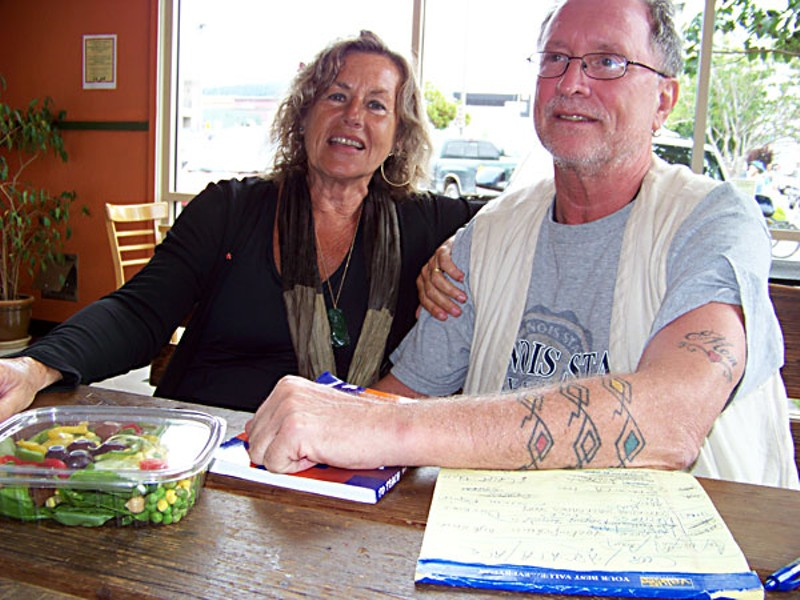 Bernardine Dohrin and Bill Ayers at the North Coast Co-op in Arcata. Photo by Heidi Walters
