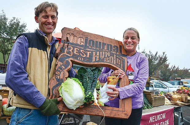 Best Farmers Market Vendor (Tie): Lighthouse Grill, Neukom Family Farm