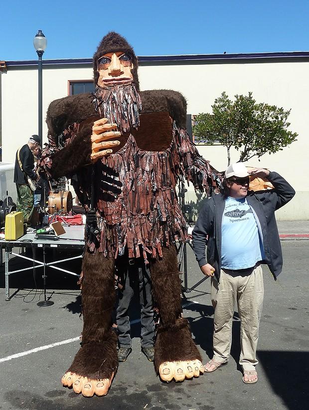 """Bigfoot with James """"Bobo"""" Fay - PHOTO BY BOB DORAN"""