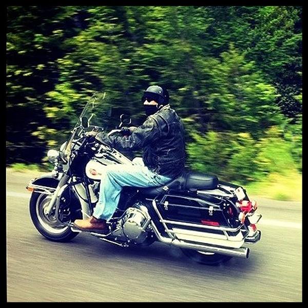Biker on his way the Redwood Run 2011 - PHOTO BY BOB DORAN