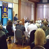 Bill Panos, Eureka's new city manager, told more than 100 Rotarians at their early January meeting that he's going to take his time to understand the community and the people.
