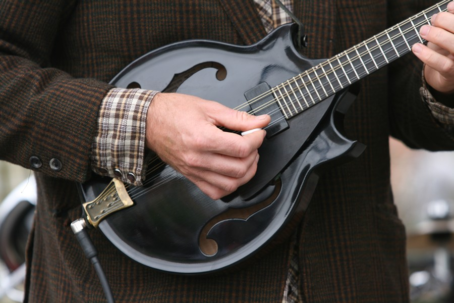 Bird Jowaisas' mandolin - PHOTO BY BOB DORAN