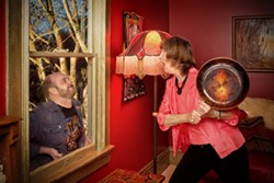 PHOTO BY EVAN WISH - Bonnie Mesinger and Gary Bowman in The Velocity of Autumn