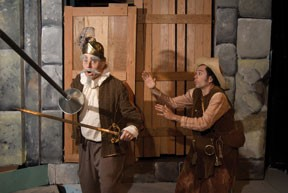Brad Curtis as Don Quixote and John Ludington as Sancho Panza in the excellent Ferndale Rep production of Man of La Mancha.
