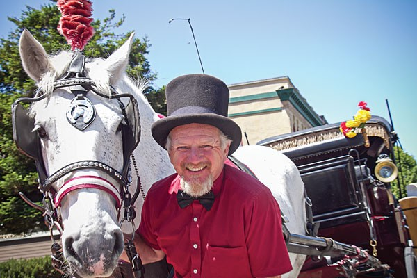 Brendan Fearon and friend of Old Town Carriage Company. - PHOTOS BY TERRENCE MCNALLY