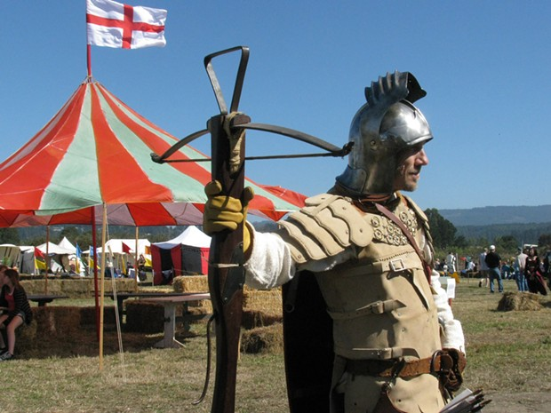 "Brian ""El Ocho"" Thomas at last year's Excalibur Medieval Tournament - PHOTO BY HOLLY HARVEY"