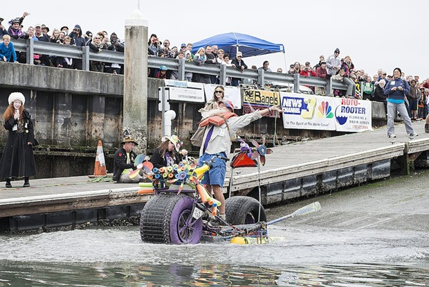 Buggy for Glory pilot Peter Wagner celebrates his successful bay entry... - MARK MCKENNA