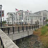 Lazio's Last Stand Built up, burnt down, and then rebuilt again in 2006. The Bayfront One building is the first private development on the Eureka Boardwalk. Photo by Meghannraye Sutton.
