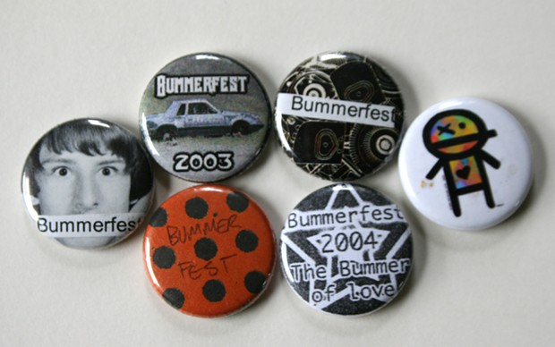 Bummerfest buttons - FROM THE COLLECTION OF BOB DORAN