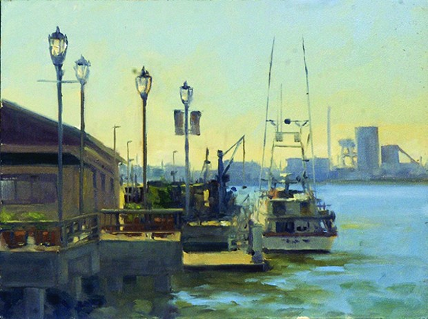C St. Dock. - PAINTING BY STOCK SCHLUETER