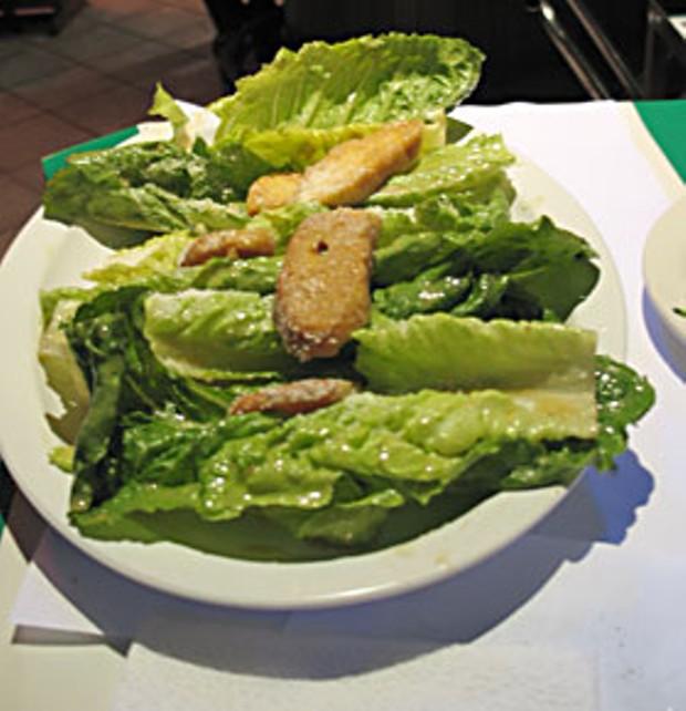 Caesar Salad prepared tableside in Tijuana. Photo by Bob Doran.