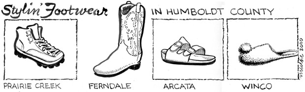 Stylin' Footwear In Humboldt County
