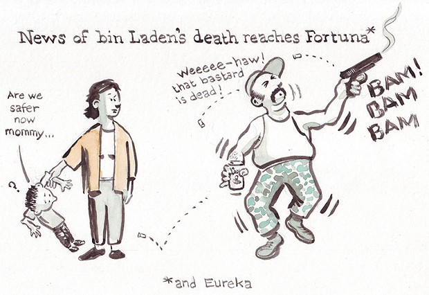 News of bin Laden's death reaches Fortuna*