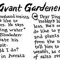 Ask the Avant Gardener...