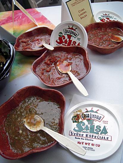 Casa Lindra salsa on display at Arcata Chamber of Commerce mixer. Photo by Bob Doran