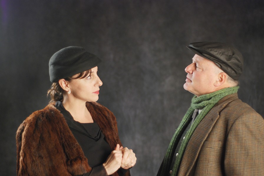 Cassandra Hesseltine and Craig Benson in Redwood Curtain's The Pitmen Painters - COURTESY OF REDWOOD CURTAIN