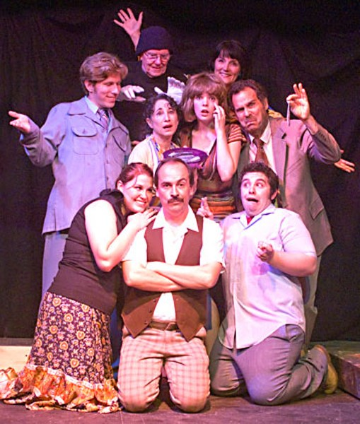 Cast of 'Noises Off' at the Ferndale Repertory Theatre.