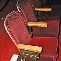 Tale of Two Theaters Chair at the Eureka Concert and Film Center. Photo by Bob Doran