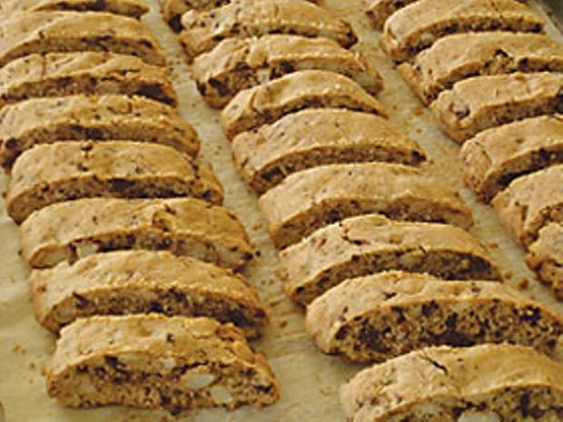 Chocolate almond biscotti. Photo courtesy of Simona Carini.