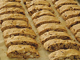 Chocolate almond biscotti. Photo courtesy of Simona Carini.