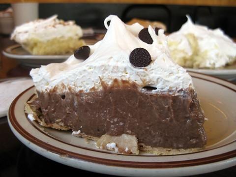 Chocolate cream pie at Toni's. Yippee-pie-yay. - JENNIFER FUMIKO CAHILL