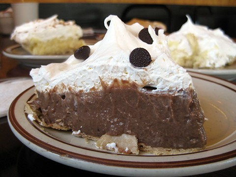 Chocolate cream pie at Toni's. Yippee-pie-yay. - JENNIFER FUMIKO CAHILL