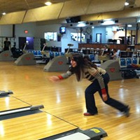 For the Love of Bowling Claire Reynolds lets loose at E&O. Photo by Peri Escarda