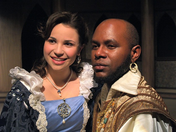 Claudia Johani Guerrero as Desdemona; Jabari Morgan as Othello in the North Coast Rep production - COURTESY OF NORTH COAST REPERTORY THEATRE