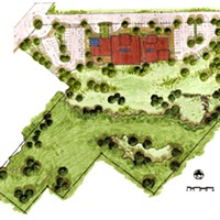 Conceptual Site Plan for the new Health Center on Tydd Street