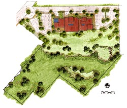 COURTESY OF ODCHC - Conceptual Site Plan for the new Health Center on Tydd Street