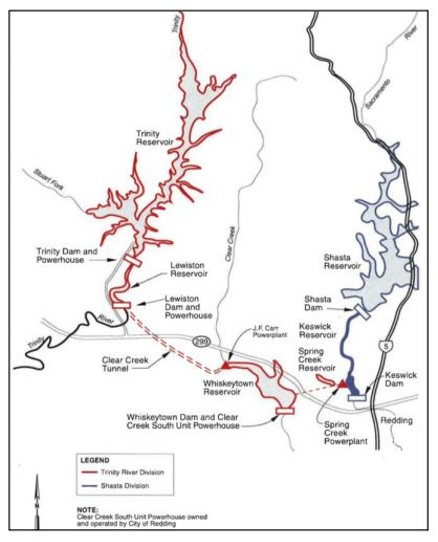 Courtesy the Bureau of Reclamation - TRINITY RESERVOIR