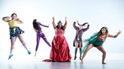 COURTESY OF HSU. - Curiouser and curioser.       HSU dancers take on       Alice In Wonderland.