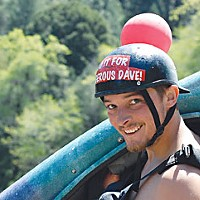 Salmon River Race Dan Menten, the victor. Photo by Kim Stewart.