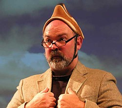 David Ferney as the professor Harold Burroughs in the Misunderstood Badger.  Photo courtesy of Arcata Playhouse.