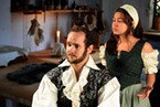 David Hamilton and Ambar Cuevas in <i>Equivocation</i>.