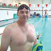 Pool Stories David Machuga at the Eureka High pool. Photo by Heidi Walters.