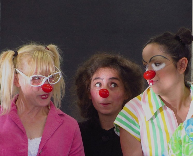 Dell'Arte clowns Lee Ann Hittenberger, Sonja Lynn Mata and Carina Skrande_ - PHOTO BY JOAN SCHIRLE