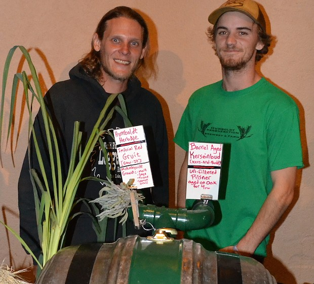 Humboldt Regeneration Brewers Eric Tschillard and Matt Kruskamp. - PHOTO BY KEN MALCOMSON