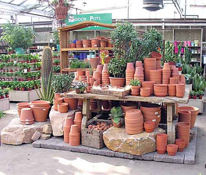 A Display Of Terra Cotta Pottery At Bachman S Garden Center In Minneapolis Minnesota Photo Courtesy