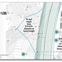 Parting The Redwood Curtain Detail of realignment map. North Coast Journal graphic. Sorce: State of California Deptartment of Transportation (Caltrans).