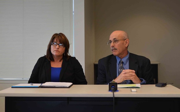 DHHS Assistant Director of Administration Connie Beck and DHHS Director Phil Crandall discuss the county's plan to staff the Mental Health Branch. - GRANT SCOTT-GOFORTH