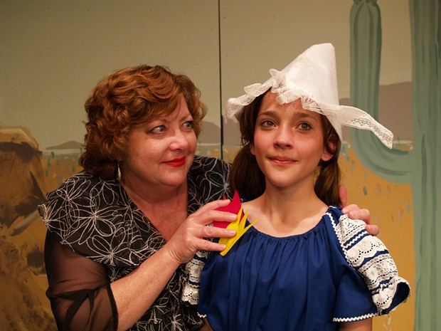 Dianne Zuleger as Rose and Sydney Stephens as Baby June in NCRT's Gypsy - COURTESY OF NCRT