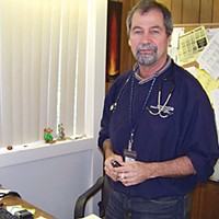Care for an Éclair? Dr. Bill Hunter, chief medical officer for Open Door Clinics.
