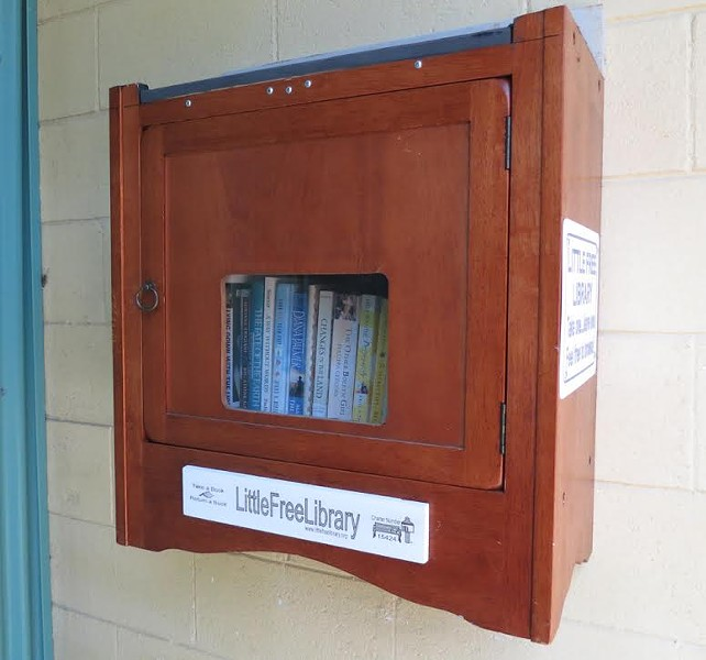 The new Little Free Library in Old Town - PHOTO COURTESY BARRY EVANS