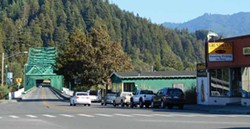 PHOTO BY LINDA STANSBERRY - Eagle Prairie Bridge, the shortest state highway in California.
