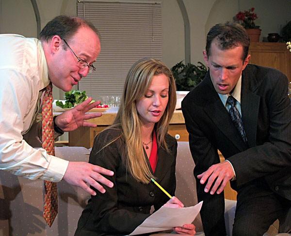Edward Olson, Kimberly Haile and Victor Howard in NCRT's Love List.